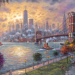 Пазл онлайн: Воспоминания о Нью-Йорке