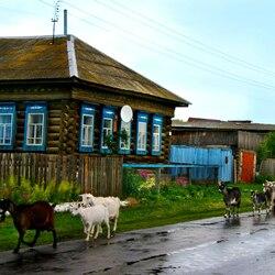 Пазл онлайн: Русская деревня