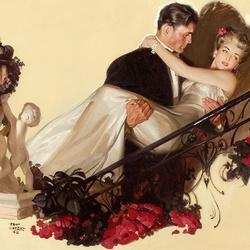 Пазл онлайн: Влюблённые