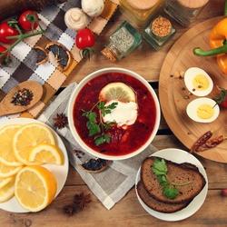 Пазл онлайн: Русская кухня