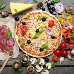 Пазл онлайн: Пицца