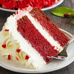 Пазл онлайн: Кусочек торта