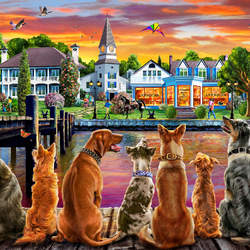 Пазл онлайн: Портовые собаки