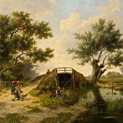 Пазл онлайн: На реке