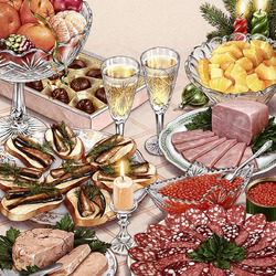 Пазл онлайн: Ужин для двоих