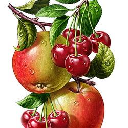 Пазл онлайн: Яблочно-вишнёвый