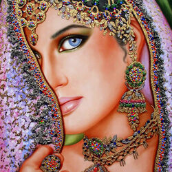 Пазл онлайн: Глаза Индии