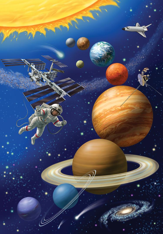 Рисунок космос все планеты