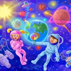 Пазл онлайн: Космическая любовь