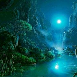 Пазл онлайн: Ночь в тропиках