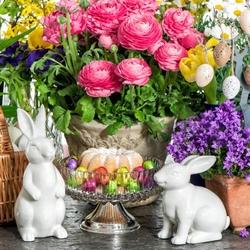 Пазл онлайн: Цветы к Пасхе