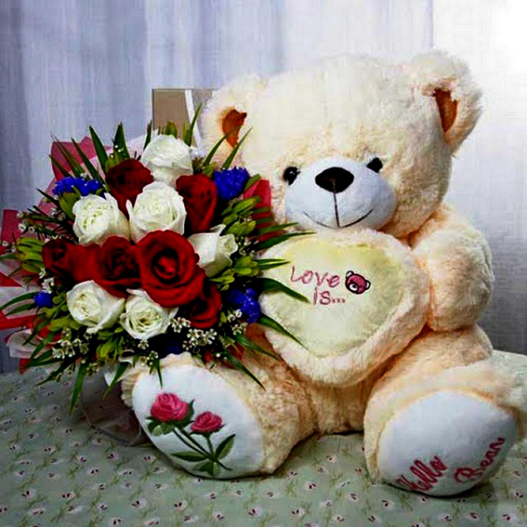 Фото медвежат с цветами