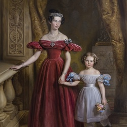Пазл онлайн: Луиза Прусская с дочерью