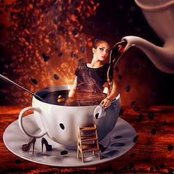 Пазл онлайн: Я люблю кофе