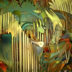 Пазл онлайн: Динамическая живопись