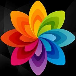 Пазл онлайн: Цветные лепестки