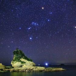 Пазл онлайн: Звездное ночное небо