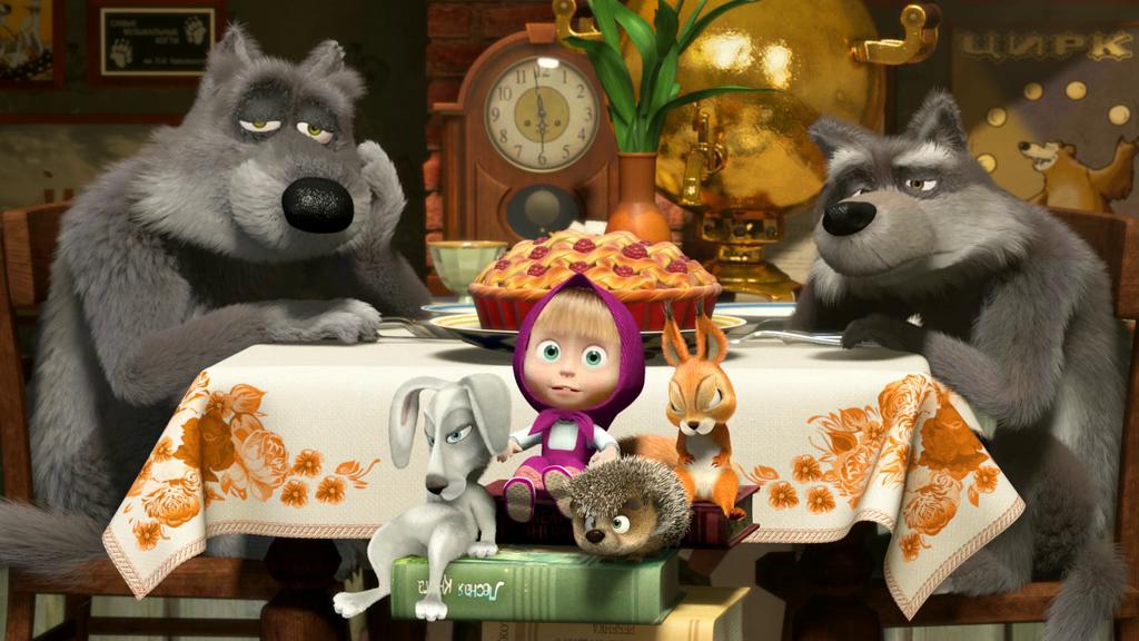 Маша и медведь картинки из мультфильма с волками