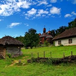 Пазл онлайн: Украинская деревня