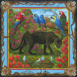 Пазл онлайн: Чёрный леопард