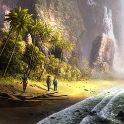 Пазл онлайн: На тропическом берегу