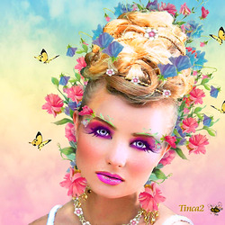 Пазл онлайн: Девушка-Весна