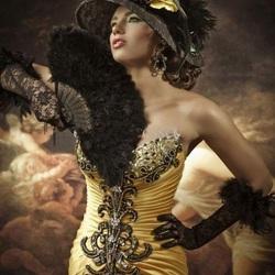 Пазл онлайн: Красавица с веером