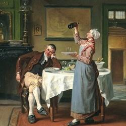 Пазл онлайн: Любитель вина