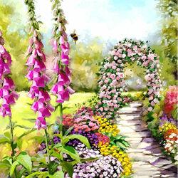 Пазл онлайн: Летний сад