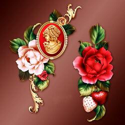Пазл онлайн: Розы и клубника