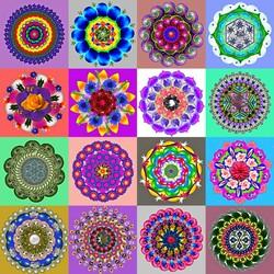 Пазл онлайн: Мандалы