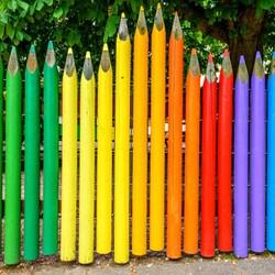 Пазл онлайн: Цветной забор