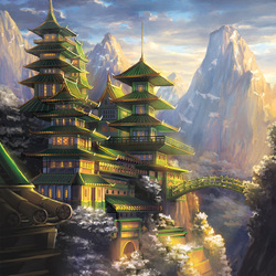 Пазл онлайн: Укреплённый монастырь Дракона