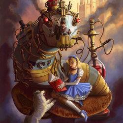 Пазл онлайн: Алиса в стране Стимпанка
