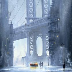 Пазл онлайн: Дождливо в Нью-Йорке