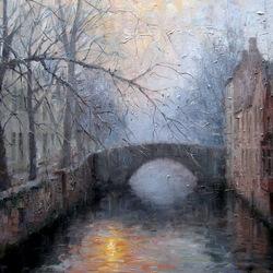 Пазл онлайн: Мост в городе