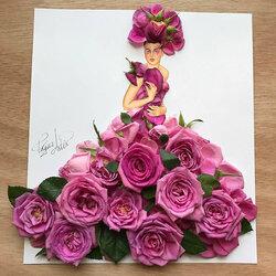 Пазл онлайн: Сделано из роз