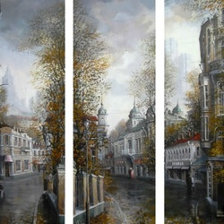 Пазл онлайн: Осенний триптих