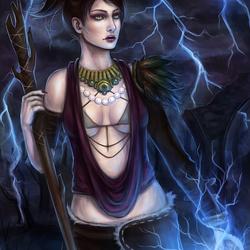 Пазл онлайн: Морриган из Dragon Age