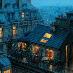 Пазл онлайн: Убежище на крыше