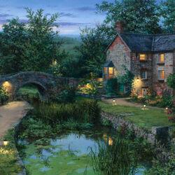Пазл онлайн: Старый пруд