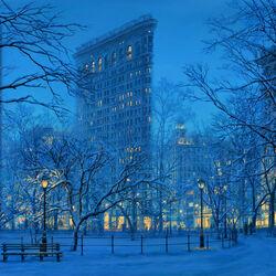 Пазл онлайн: Зимняя картина