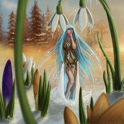 Пазл онлайн: Фея морозного рассвета