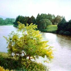 Пазл онлайн: Излучина реки