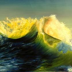 Пазл онлайн: Вечерняя волна