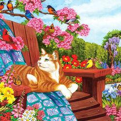 Пазл онлайн: В саду