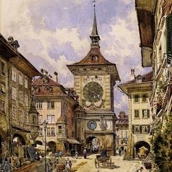 Пазл онлайн: Бернская башня