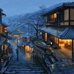 Пазл онлайн: Старый Киото