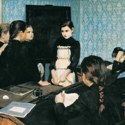 Пазл онлайн: Новенькая в школе
