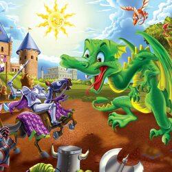 Пазл онлайн: Король и дракон